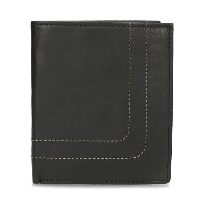 Kožená peňaženka s prešitím bata, hnedá, 944-6148 - 26