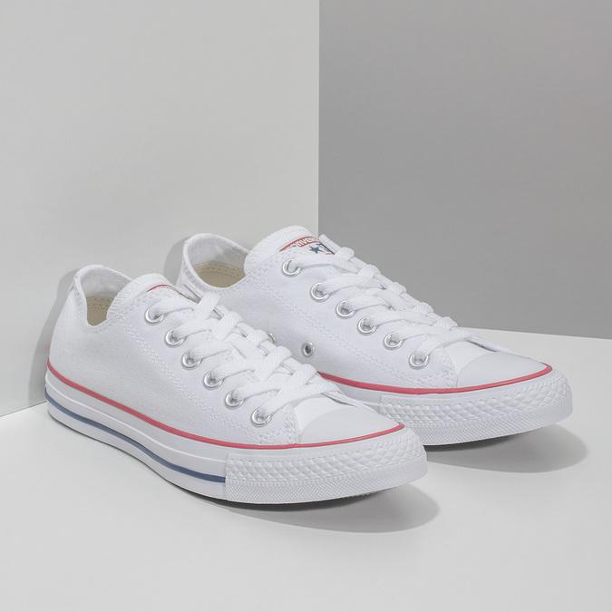 Dámske biele tenisky s gumovou špičkou converse, biela, 589-1279 - 26
