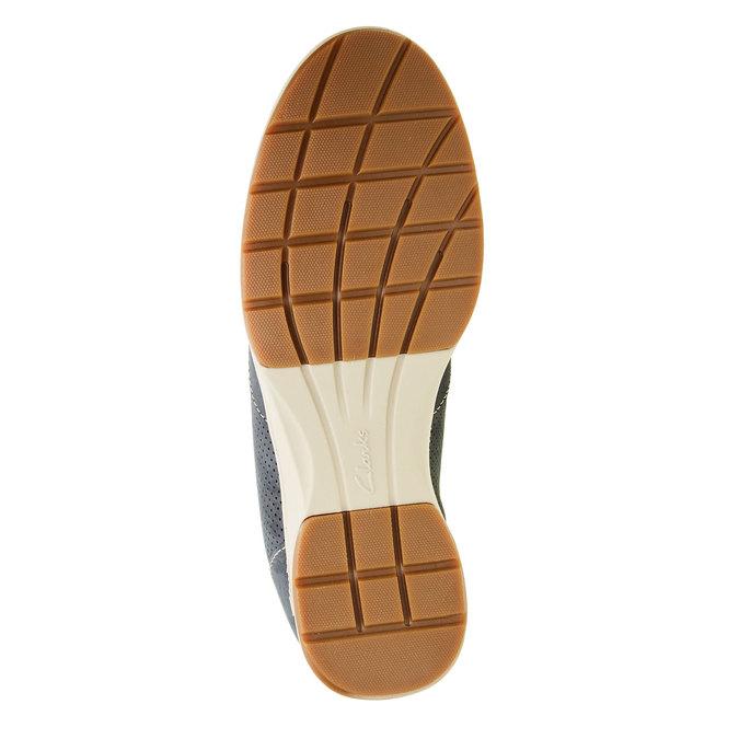 Pánska obuv z brúsenej kože clarks, modrá, šedá, 826-9006 - 26