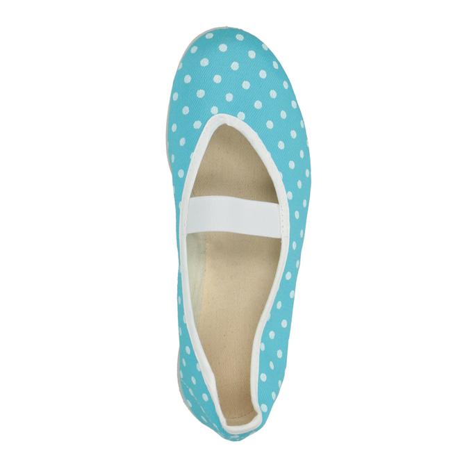 Modré cvičky s bodkami bata, modrá, 379-9103 - 19