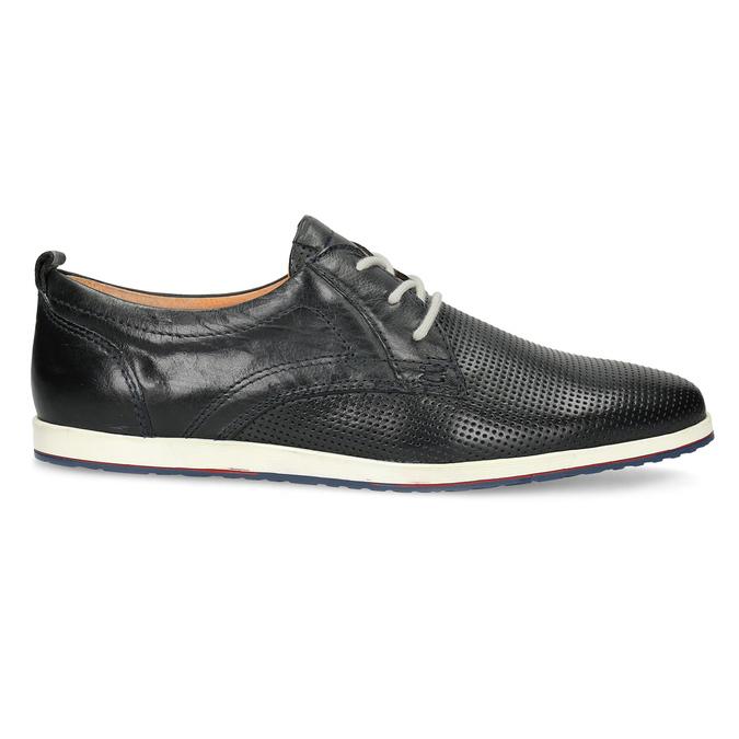 Ležérne kožené poltopánky bata, čierna, modrá, 824-9124 - 19