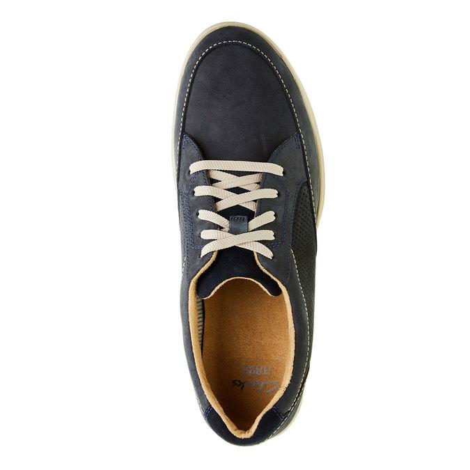 Pánska obuv z brúsenej kože clarks, modrá, šedá, 826-9006 - 19