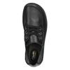 Ležérne kožené poltopánky clarks, čierna, 624-6004 - 19