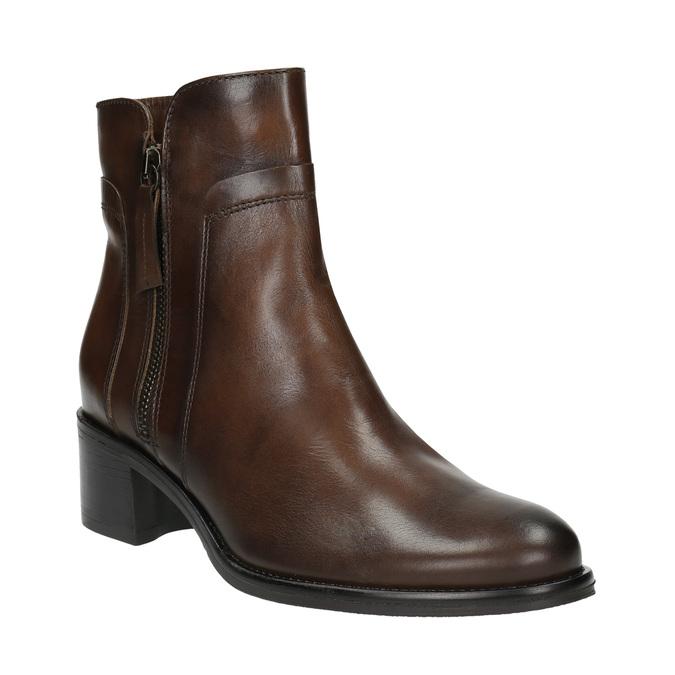 Kožené členkové čižmy so zipsom bata, hnedá, 694-4600 - 13