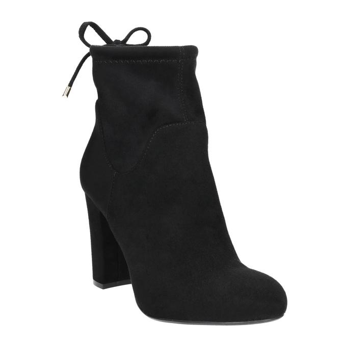 Členkové čižmy na podpätku bata, čierna, 799-6604 - 13
