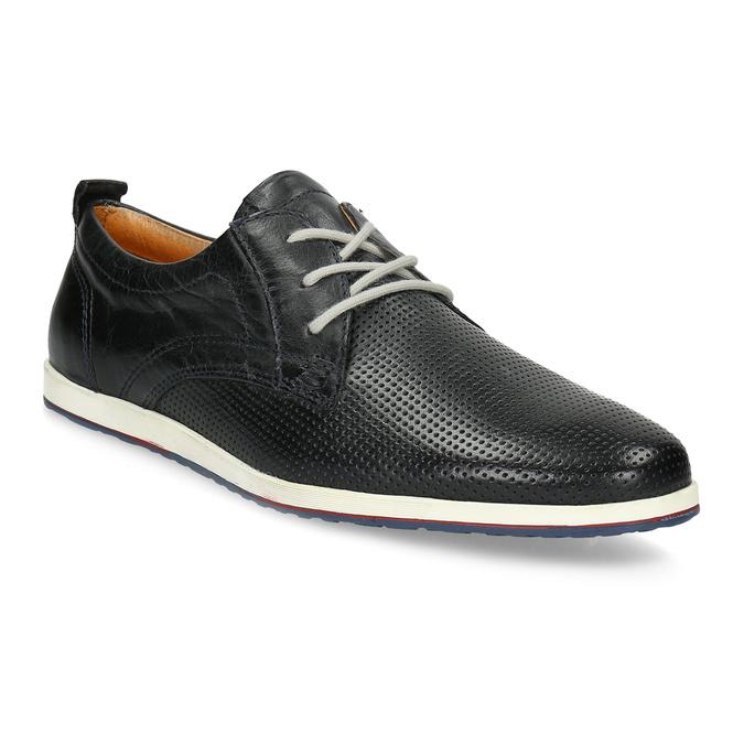 Ležérne kožené poltopánky bata, čierna, modrá, 824-9124 - 13