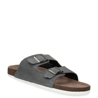 Pánska domáca obuv de-fonseca, šedá, 873-2610 - 13