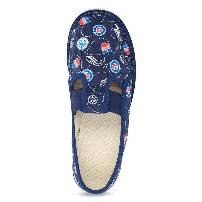 Modré detské prezuvky so vzorom bata, modrá, 379-9012 - 17