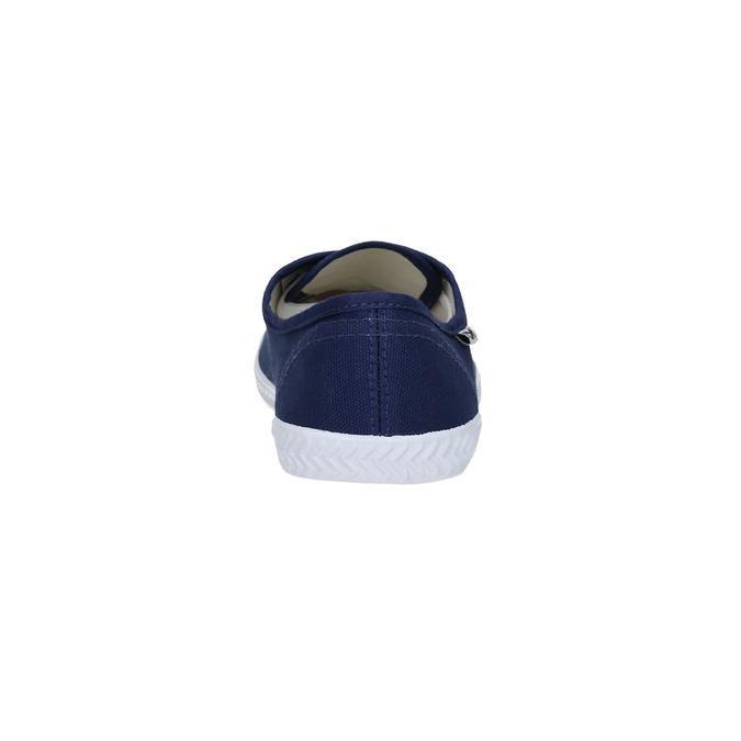 Modré textilné tenisky tomy-takkies, modrá, 519-9691 - 17