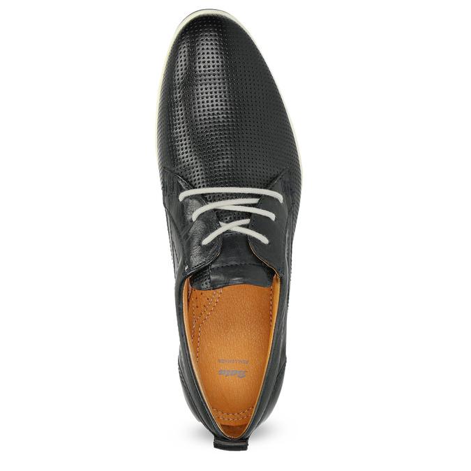 Ležérne kožené poltopánky bata, čierna, modrá, 824-9124 - 17