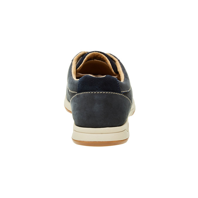 Pánska obuv z brúsenej kože clarks, modrá, šedá, 826-9006 - 17