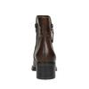 Kožené členkové čižmy so zipsom bata, hnedá, 694-4600 - 17