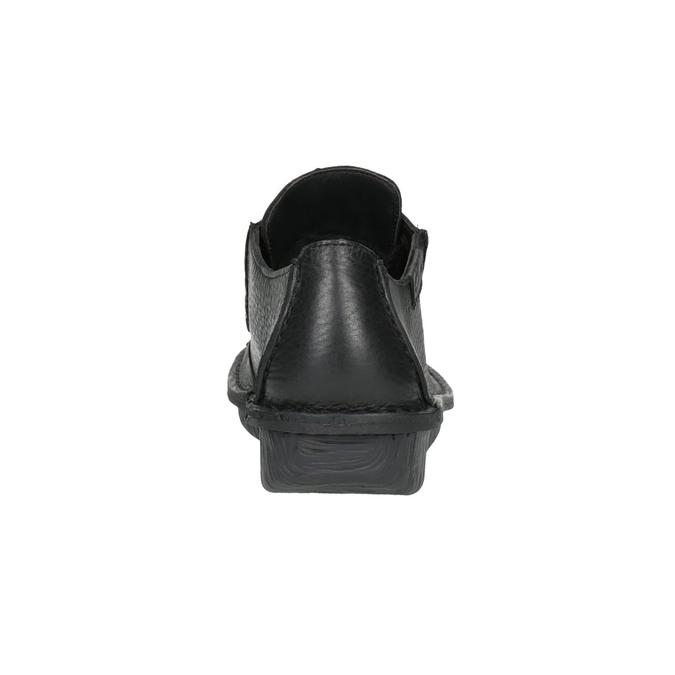 Ležérne kožené poltopánky clarks, čierna, 624-6004 - 17