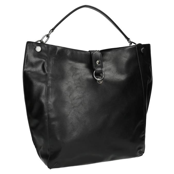 Čierna kabelka v Hobo štýle bata, čierna, 961-6808 - 13