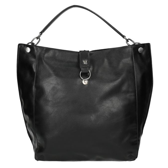 Čierna kabelka v Hobo štýle bata, čierna, 961-6808 - 19