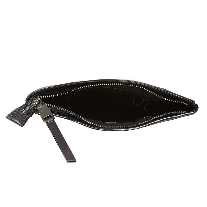 Kožená cross body bata, čierna, 964-6131 - 15