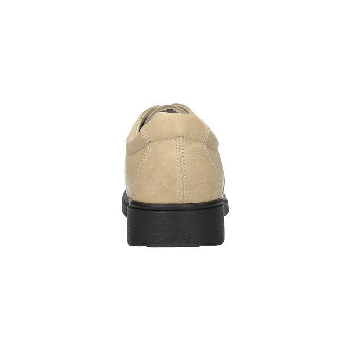 Pánská kožená zdravotní obuv medi, béžová, 854-8205 - 17