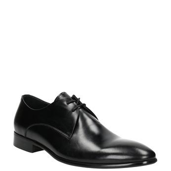 Kožené čierne poltopánky bata, čierna, 826-6648 - 13