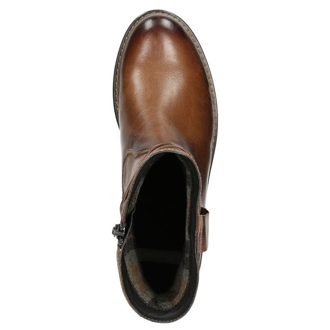 Kožená členková obuv ve Western štýle bata, hnedá, 594-4611 - 26