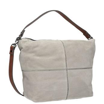 Kožená kabelka v Hobo štýle bata, šedá, 963-2130 - 13