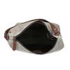 Kožená kabelka v Hobo štýle bata, šedá, 963-2130 - 15