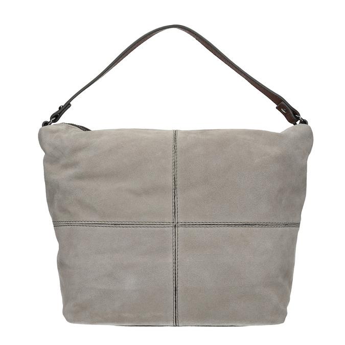 Kožená kabelka v Hobo štýle bata, šedá, 963-2130 - 26