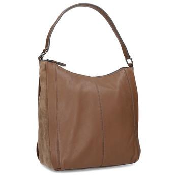 Hnedá kožená kabelka bata, hnedá, 964-3254 - 13