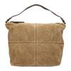 Kožená kabelka s prešitím bata, hnedá, 963-3130 - 26