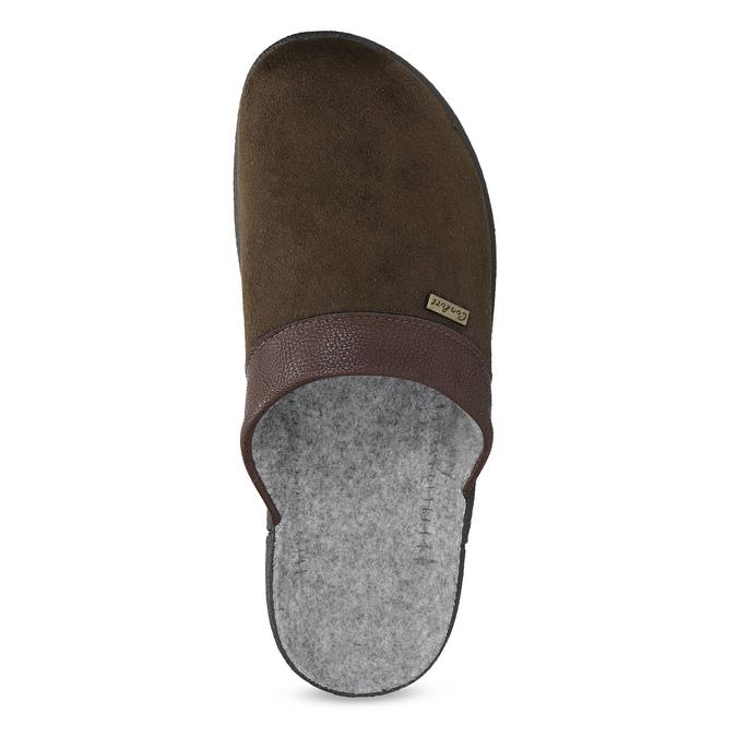 Pánska domáca obuv bata, hnedá, 879-4600 - 17