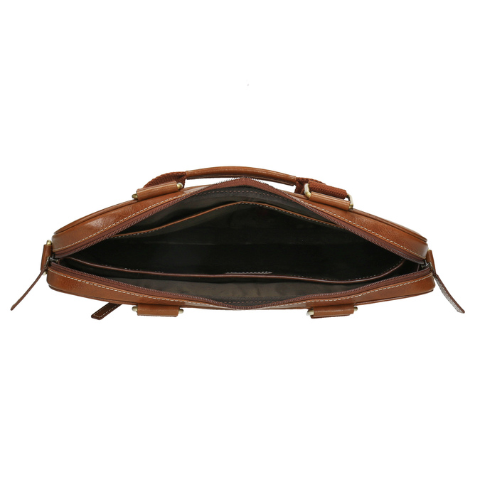 Pánska kožená brašna hnedá bata, hnedá, 964-3204 - 15