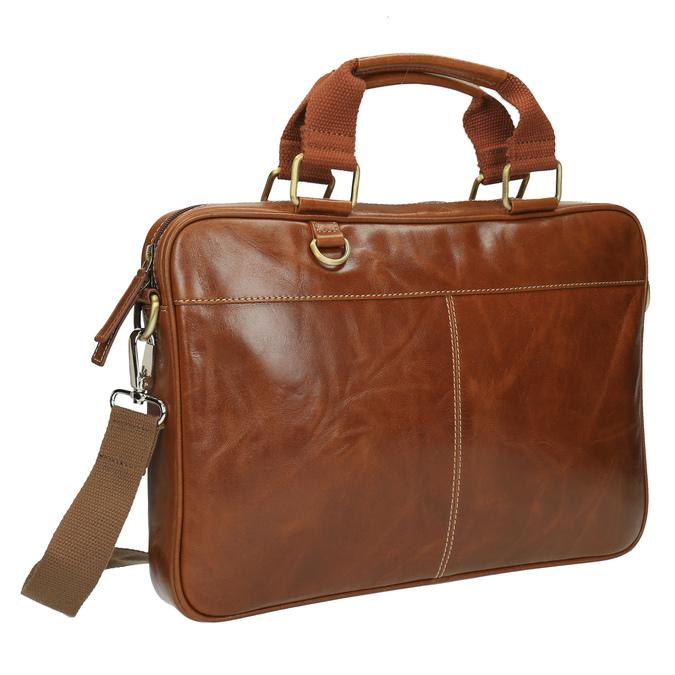 Pánska kožená brašna hnedá bata, hnedá, 964-3204 - 13