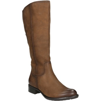 Hnedé kožené čižmy bata, hnedá, 596-4604 - 13