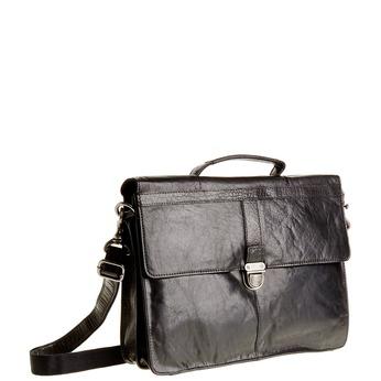 Kožená aktovka bata, čierna, 964-6138 - 13