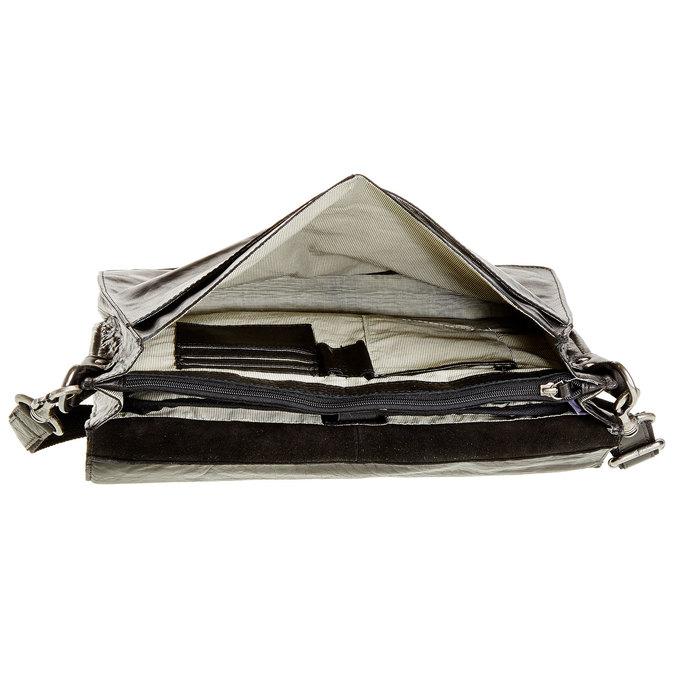 Kožená aktovka bata, čierna, 964-6138 - 15