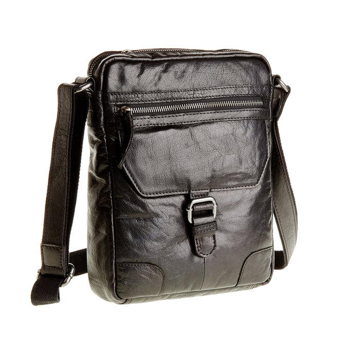 Kožená  Crossbody taška bata, čierna, 964-6180 - 13