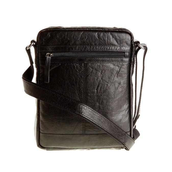 Kožená  Crossbody taška bata, čierna, 964-6180 - 26