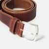 Pánsky opasok s prešitím bata, hnedá, 954-4147 - 16