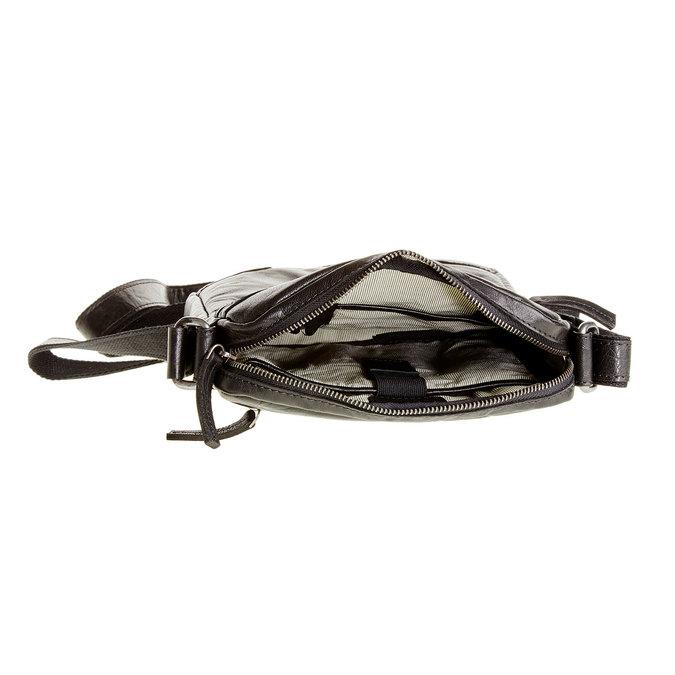 Kožená  Crossbody taška bata, čierna, 964-6180 - 15