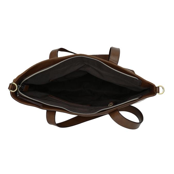 Dámska kabelka s asymetrickým zipsom bata, hnedá, 961-3847 - 15