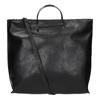 Dámska kabelka s kovovými rúčkami bata, čierna, 961-6789 - 19