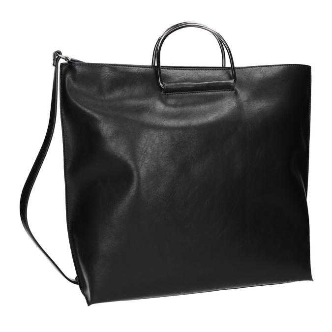 Dámska kabelka s kovovými rúčkami bata, čierna, 961-6789 - 13