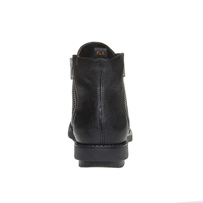 Kožená členková obuv flexible, čierna, 594-6227 - 17