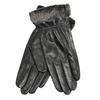 Kožené dámske rukavice s kožušinkou bata, čierna, 904-6112 - 13