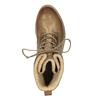 Kožená členková obuv so zateplením bata, hnedá, 594-4610 - 19