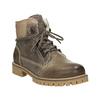 Kožená zimná obuv s kožúškom weinbrenner, hnedá, 594-2491 - 13