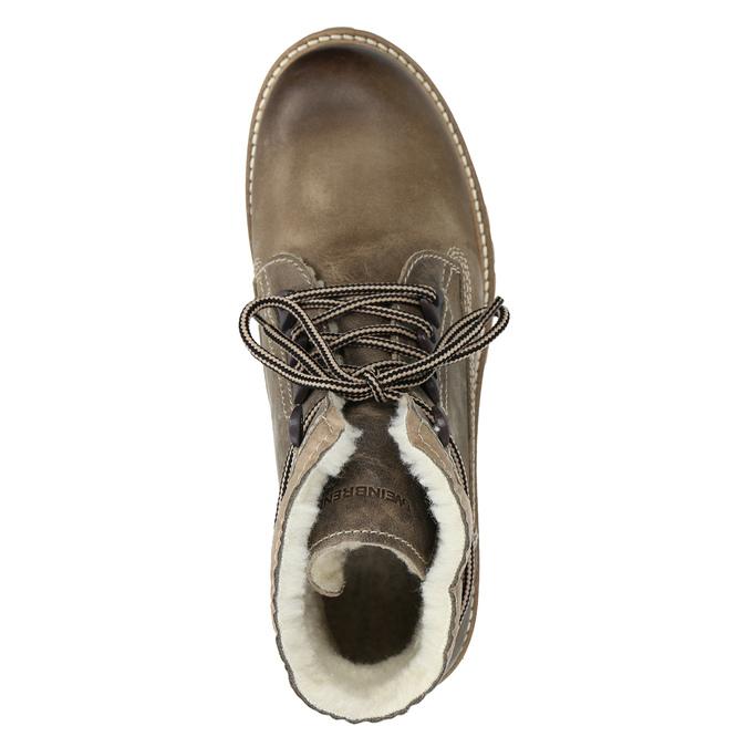 Kožená zimná obuv s kožúškom weinbrenner, hnedá, 594-2491 - 15