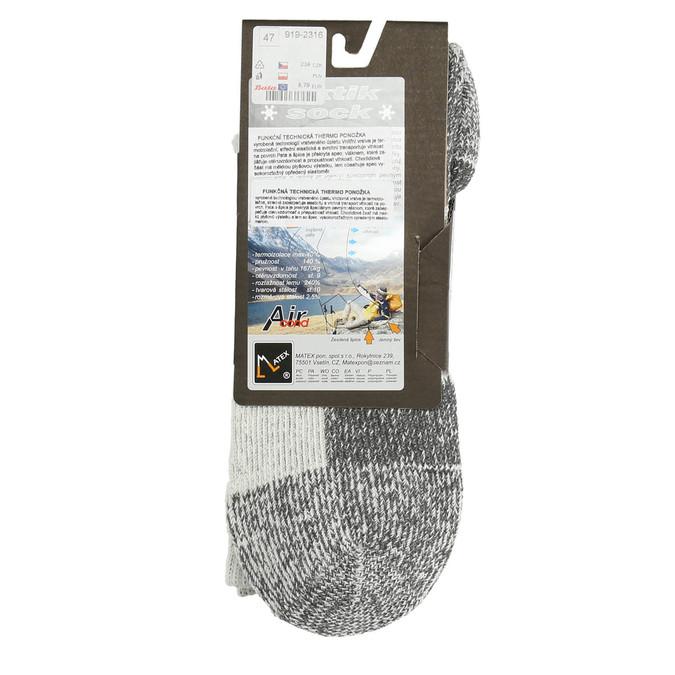 Pánske outdoorové ponožky matex, šedá, 919-2316 - 15