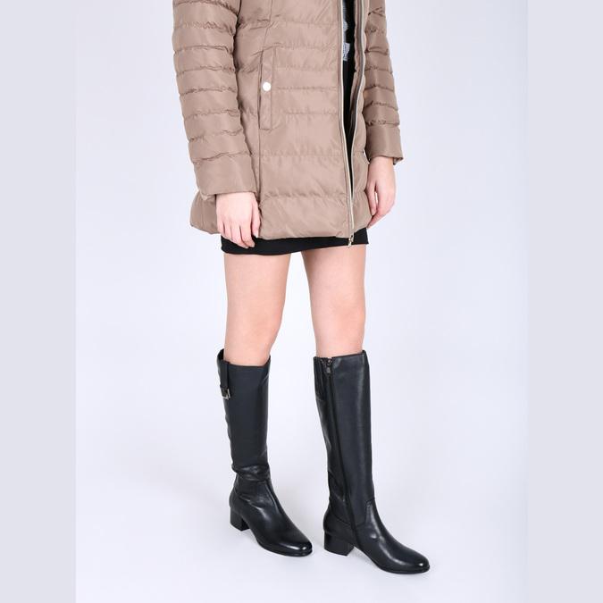 Dámské kožené čižmy na nízkom podpätku bata, čierna, 694-6631 - 18