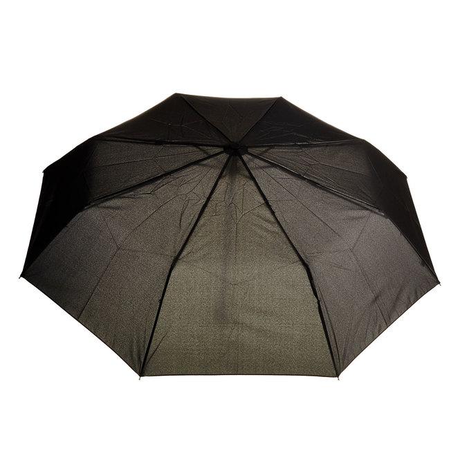 Čierny skladací dáždnik bata, čierna, 909-6600 - 26