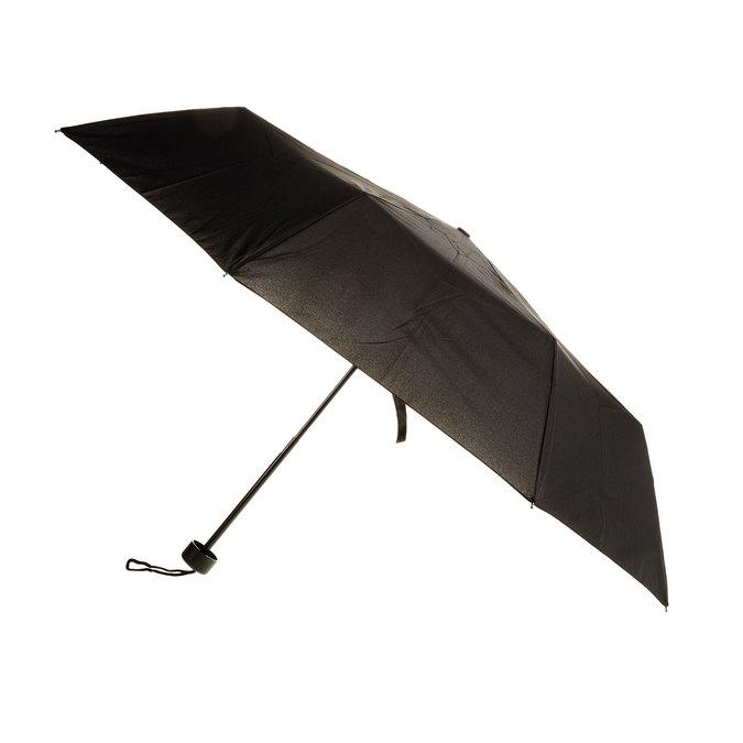 Čierny skladací dáždnik bata, čierna, 909-6600 - 13